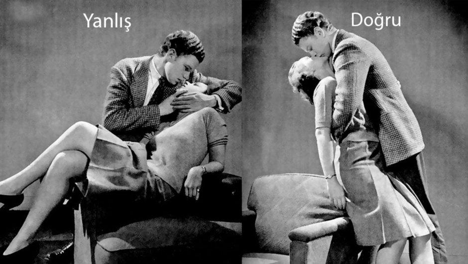 1940'lardan kalma öpüşme kılavuzu!