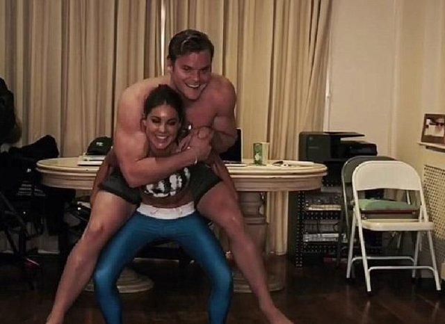 Louise Thompson ile Ryan Libbey