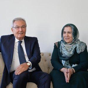 Deniz Baykal, Ahmet Türk'ün eşi Mülkiye Türk'ü ziyaret etti