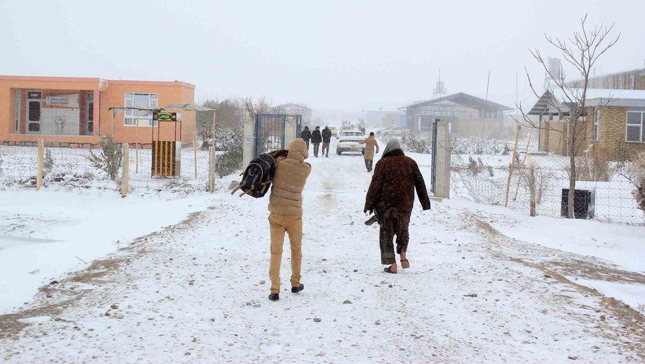 Afganistan kar yağışı soğuk hava