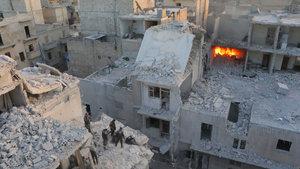 Halep'ten dünyaya yardım çağrısı