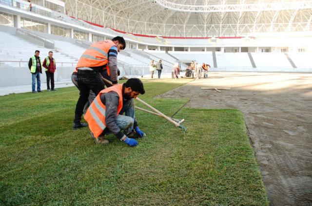 Malatya Arena Stadı'ndan görüntüler...