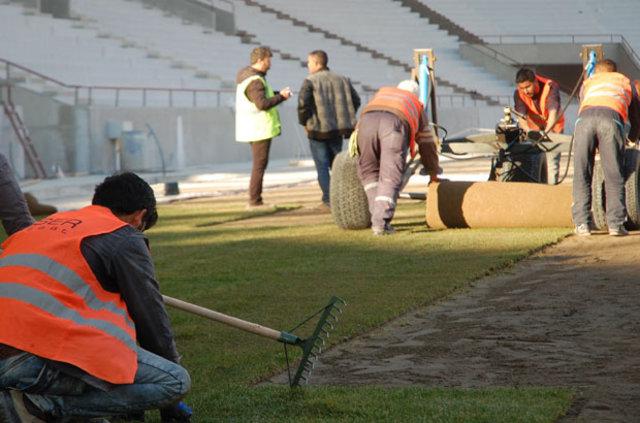 Malatya Arena Stadı'nın çimleri serilmeye başlandı!