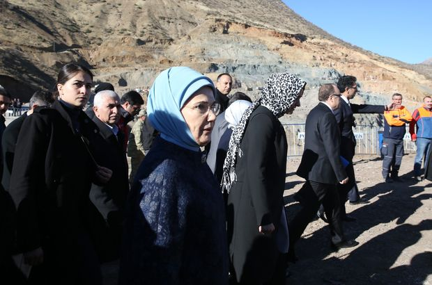 Emine Erdoğan Şirvan'da incelemelerde bulundu
