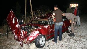 Muğla'da bir otomobil denize uçtu :1 Ölü 1 Yaralı
