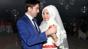 Kazazede çift 56 gün sonra evlendi