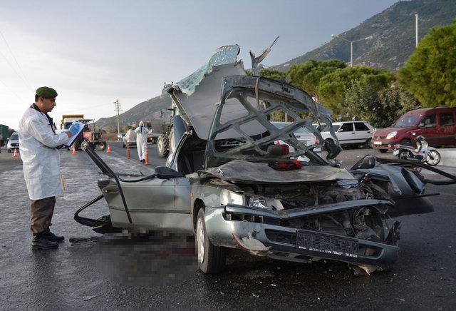 Aydın'da hastane yolunda trafik kazası meydana geldi