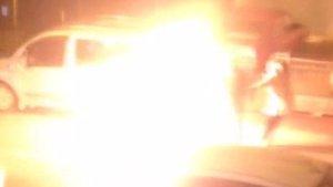 Mamak'ta sinir krizi geçiren kadın kendisini ateşe verdi