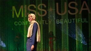 Halima Aden güzellik yarışmasına tesettürle katıldı