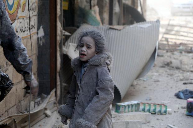 Halep doğu mahalleler Suriye