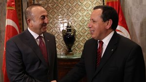 Mevlüt Çavuşoğlu Tunus'ta