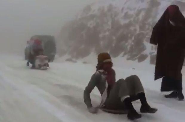 Çöle kar yağdı! Sıcaklıklar 20 dereceden düştü ve...