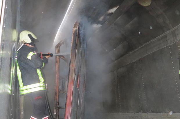 Tren garındaki yangın korkuttu!