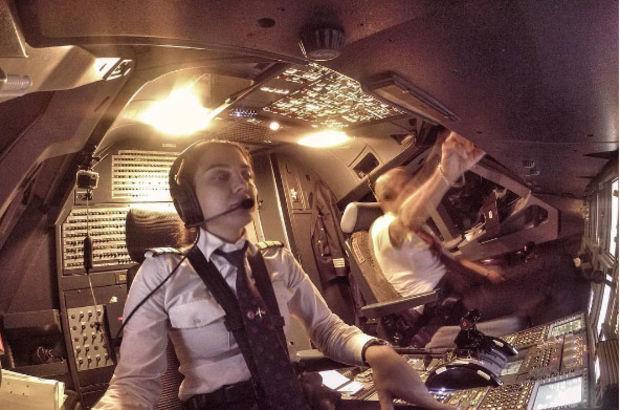Yağmur Sarıoğlu uçağı piste böyle indirdi!