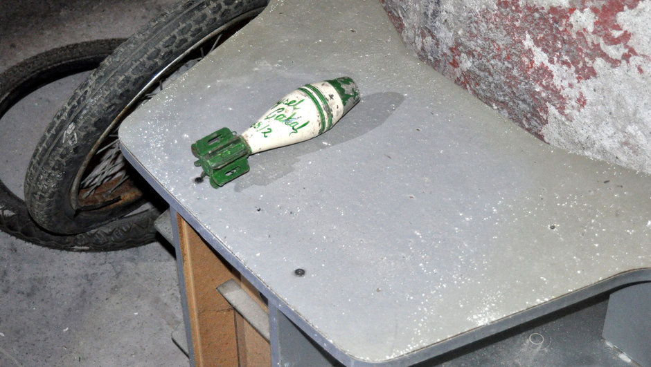 Bursa havan topu mermisi çöp konteyneri