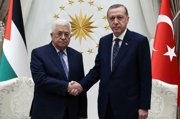 Erdoğan'dan Abbas'a tebrik telefonu