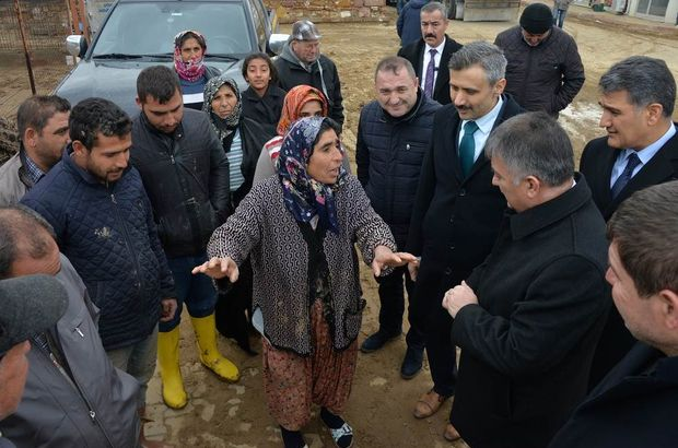 Balıkesir'de sel vatandaşı vurdu