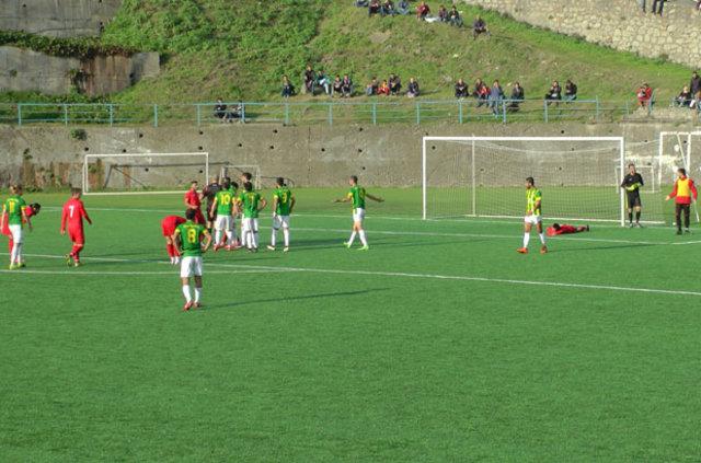 Ereğli Belediyespor - Akçakocaspor maçında ilginç gol