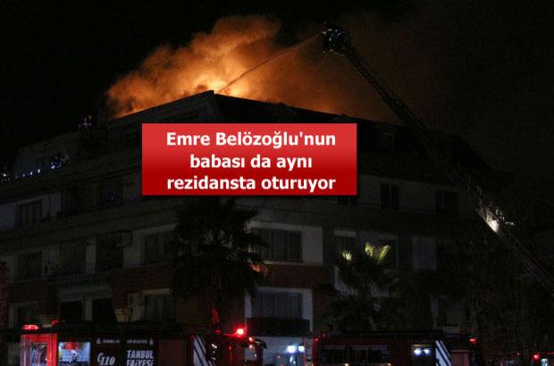 G. Saray'lı futbolcunun oturduğu rezidansta yangın!