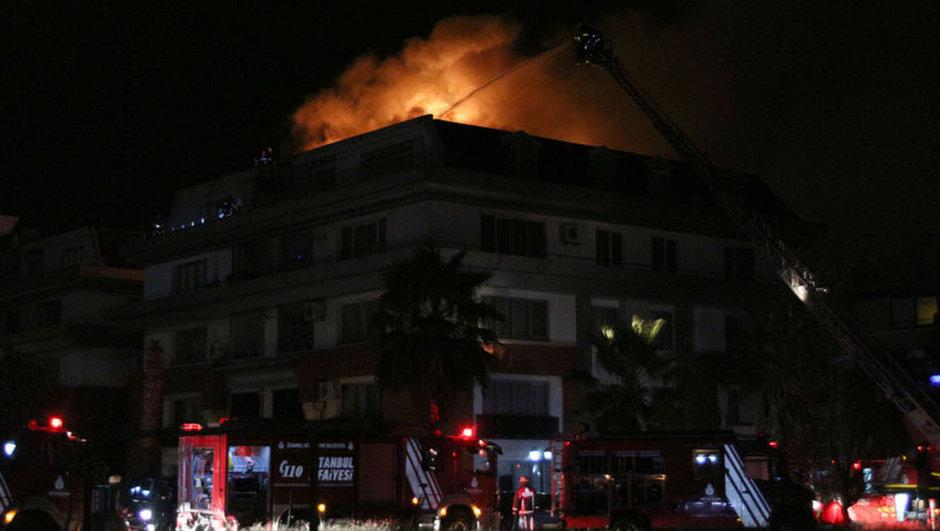 Florya'da yangın