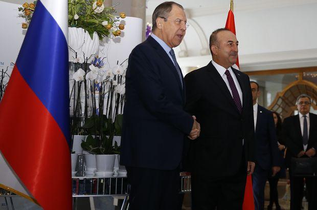 Çavuşoğlu ile Lavrov'dan ortak basın toplantısı