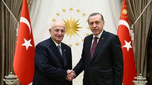 Erdoğan, TBMM Başkanı İsmaill Kahraman'ı kabul etti