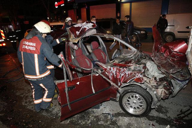 Bahçelievler'de trafik kazası: 1 ölü, 1 yaralı