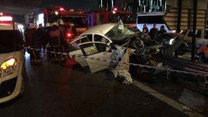 Atatürk Havalimanı yolunda feci kaza: 2 ölü, 2 yaralı