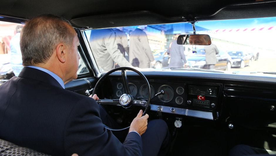Erdoğan direksiyona geçti