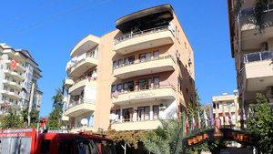Antalya'da bir evde yangın meydana geldi