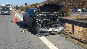 AK Parti milletvekili Yılmaz Tezcan kaza yaptı