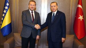 Cumhurbaşkanı Erdoğan, Bakir İzzetbegoviç'i kabul etti