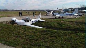Samsun'da eğitim uçağı kanala düştü
