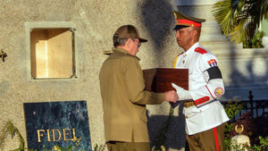 Fidel Castro'nun külleri defnedildi