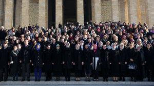 AK Partili kadın milletvekilleri Anıtkabir'de