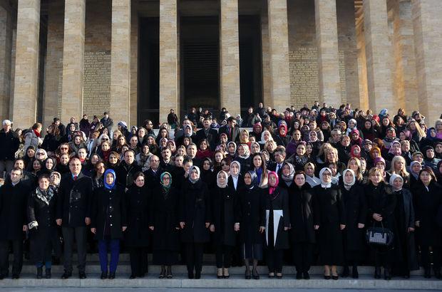 AK Partili kadın milletvekilleri Anıtkabir'i ziyaret etti