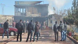Gaziantep'te TIR garajında yangın