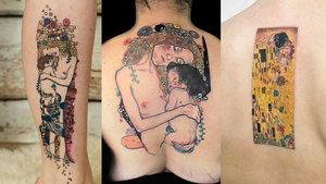 Dövme sanatına hayran eden Gustav Klimt dövmeleri