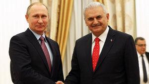 Başbakan Yıldırım Rusya Devlet Başkanı Putin ile görüşüyor