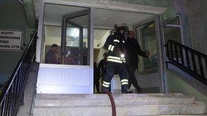 Öğrenci pansiyonunda yangın paniği