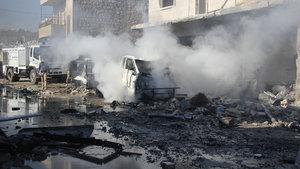 İdlib ve Halep'e hava saldırısı: 29 ölü