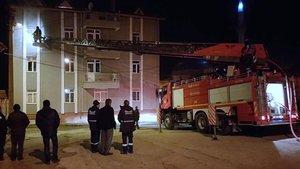 Kütahya'da kız öğrenci yurdunda yangın