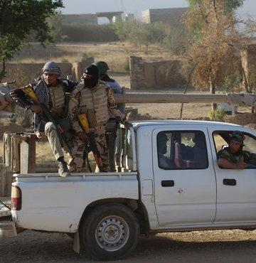 Haşdi Şabi'nin, terör örgütü PKK'ya tanksavar ve uçaksavar verdiği iddia edildi