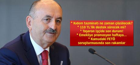 Çalışma Bakanı Müezzinoğlu: Taşeron işçi için 1-2 ay içinde toplanacağız