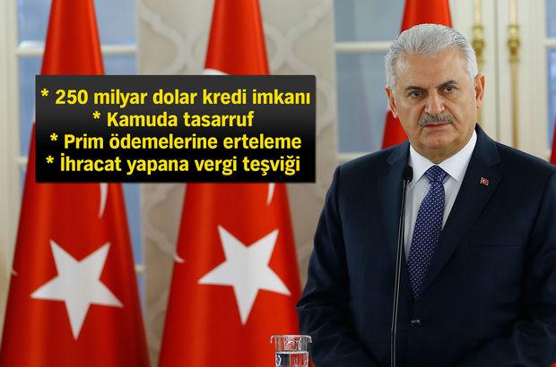 Başbakan Yıldırım ekonomiyle ilgili tedbir ve teşvikleri açıkladı