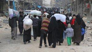 DEAŞ, El Bab'da halkı kalkan olarak kullanıyor