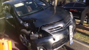 Erdoğan'ın konvoyunda kaza: 1 kişi yaralı