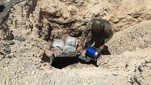 Hakkari'de 2 ton amonyum nitrat ele geçirildi