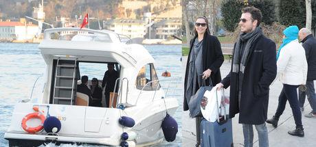 Azra Akın-Atakan Koru çifti ABD'ye uçtu