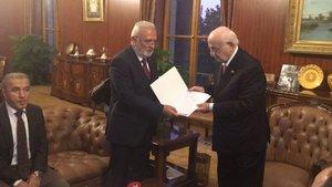Anayasa teklifinin son hali MHP'ye sunuldu